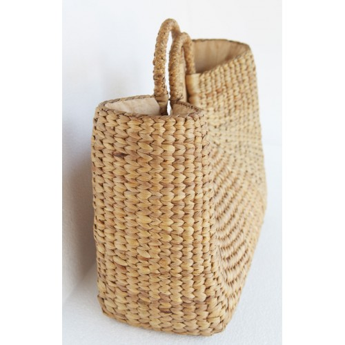 cane handle basket bag