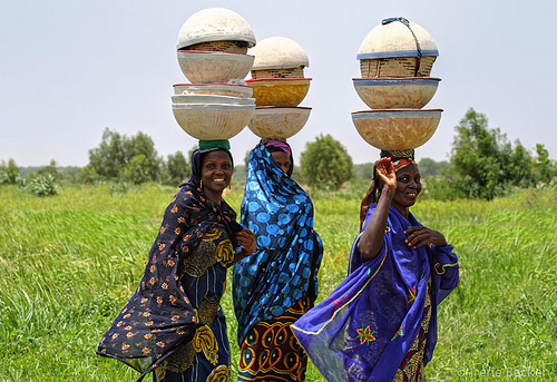 Fulani women, close to Argungu, Kebbi State, Nigeria.