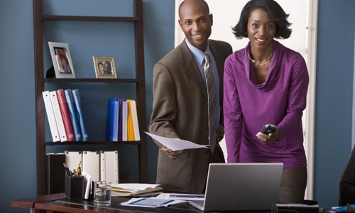 black-couple-in-office