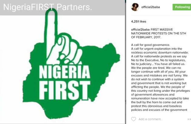Image result for 2face instagram protest
